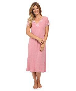 Natori | Zen Floral Nightgown Heathered Dark Radish Womens Pajama