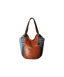 The Sak   Indio Large Tote Blue Denim Embroidery Shoulder Handbags