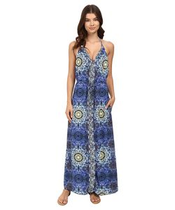 Red Carter | Polaris Halter Long Dress Cover-Up Navy Multi Womens