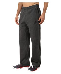 Adidas | Essential Cotton Fleece Pants Dark Grey Heather/Black Mens Casual