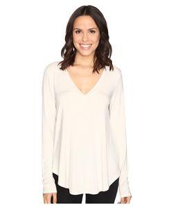 HEATHER | Long Sleeve V-Neck Tee Eggshell T Shirt