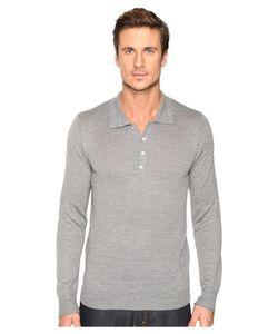7 For All Mankind | Long Sleeve Polo Sweater Heather