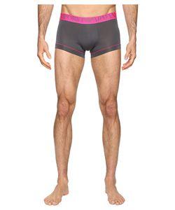 Emporio Armani | Fluo Piping Microfiber Trunk Anthracite Underwear