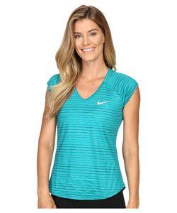 Nike | Pure Printed Top Rio Teal/White Womens Clothing
