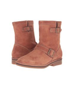Hush Puppies   Aydin Catelyn Cognac Suede Womens Boots