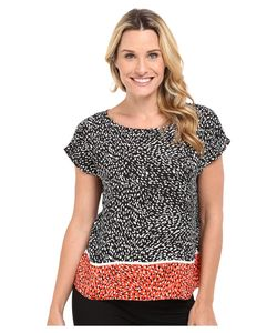Vince Camuto | Drop Shoulder Animal Swirl Blouse Rich Womens
