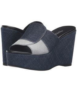 Newbark   Louisa Wedge Denim Womens Shoes