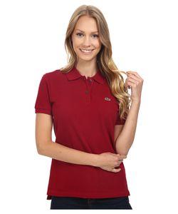 Lacoste   Short Sleeve Classic Fit Pique Polo Shirt Bordeaux Womens