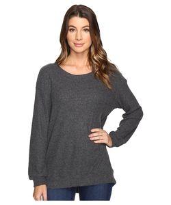 Michael Stars | Super Soft Madison Rib Oversized Sweatshirt Charcoal