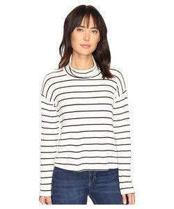 Splendid | Dune Stripe Crop Turtleneck Long Sleeve Pullover