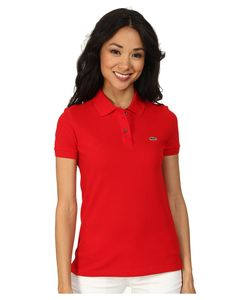 Lacoste   Short Sleeve Classic Fit Pique Polo Shirt Womens