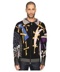 Vivienne Westwood | Manhole Jacquard Zip Cardigan Sweater