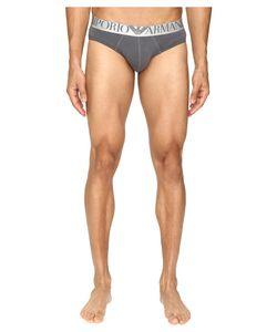 Emporio Armani | Shiny Logo Band Brief Anthracite Underwear