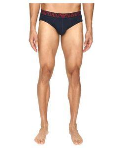 Emporio Armani | Cotton Mesh Brief Marine Underwear