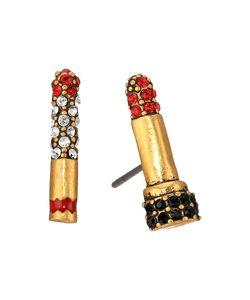 Marc Jacobs | Lipstick Cigarette Studs Earrings /Antique Gold Earring