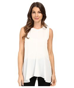 Vince Camuto | Sleeveless Paneled Ruffle Front Blouse With Slits