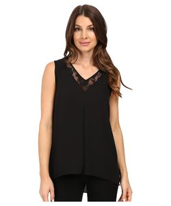 Vince Camuto | Sleeveless Lace Front High-Low Hem Blouse Womens