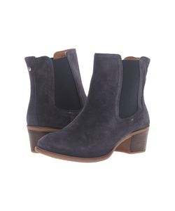 Hush Puppies | Landa Nellie Navy Suede Womens Pull-On Boots