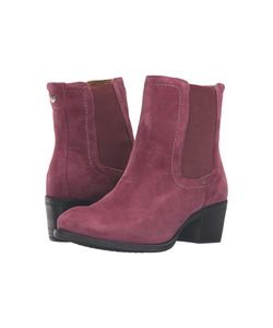Hush Puppies | Landa Nellie Wine Suede Womens Pull-On Boots