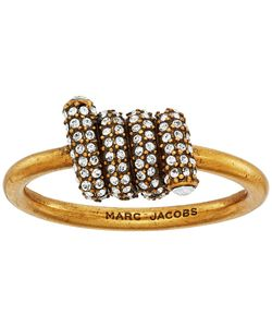 Marc Jacobs | Pave Twisted Ring Crystal/Antique Gold Ring