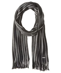 Michael Michael Kors | Pin Striped Raschel Muffler Charcoal/Heather/Ash Scarves