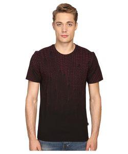 Just Cavalli   Slim Fit Scale T-Shirt Wine Mens T Shirt