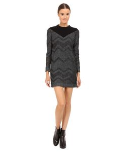 M Missoni | Bicolor Mesh Long Sleeve Lurex Dress Womens
