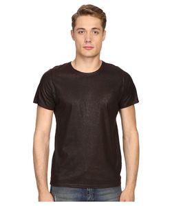Just Cavalli   Dye Effect Laser Jaquar Skin Effect T-Shirt Wine