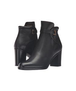 Salvatore Ferragamo | Florian Nero Light Pebbled Leather Womens Boots