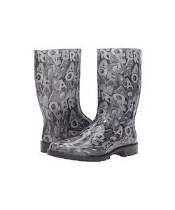 Salvatore Ferragamo | Farabel Transparent Nero/Lettering Pvc Womens Boots