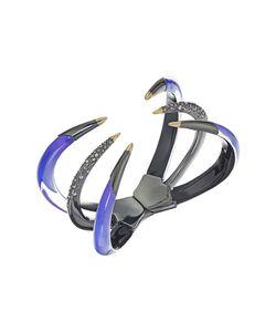 Alexis Bittar   Crystal Encrusted Gold Tipped Hinge Bracelet Violet Bracelet