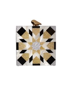 Kotur | Fitzgerald Geometric Black/ Clutch Handbags