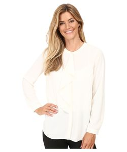 Vince Camuto | Long Sleeve Ruffle Front Blouse Antique Womens