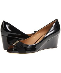 Salvatore Ferragamo | Sissi Nero Patent Womens Wedge Shoes