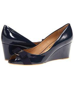 Salvatore Ferragamo | Sissi Oxford Patent Womens Wedge Shoes