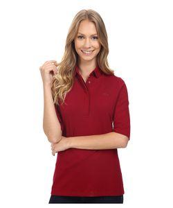 Lacoste   Half Sleeve Slim Fit Stretch Pique Polo Shirt Bordeaux