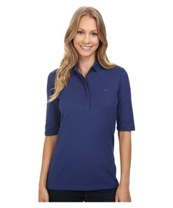 Lacoste   Half Sleeve Slim Fit Stretch Pique Polo Shirt Waterfall