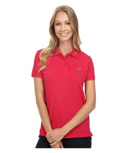 Lacoste   Short Sleeve Classic Fit Pique Polo Shirt Strawberry