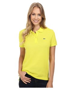 Lacoste   Short Sleeve Classic Fit Pique Polo Shirt Lemon Tree