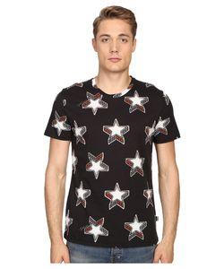 Just Cavalli   Slim Fit Stardust Print T-Shirt Mens T