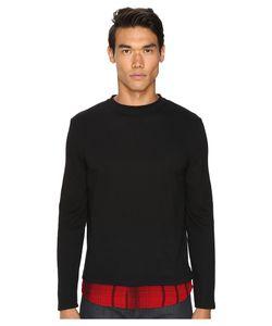 McQ   Recycled Tee Dark /Red Tartan Mens T Shirt