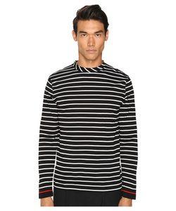 McQ   Long Sleeve Crew Tee Stripe White/ Mens T Shirt