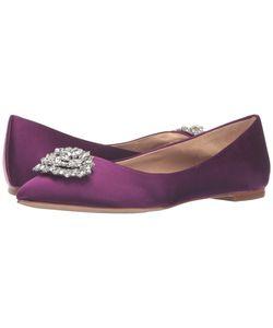 Badgley Mischka | Davis Magenta Satin Womens Flat Shoes