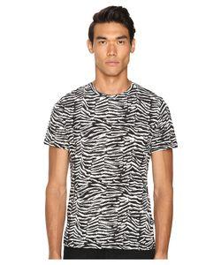 Just Cavalli   Slim Fit Zebra Vibe Printed T-Shirt Black Variant