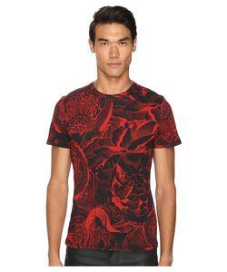 Just Cavalli   Slim Fit Rock Romance Printed T-Shirt True Red