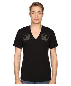 Just Cavalli   Slim Fit Swallow Jersey T-Shirt Mens T