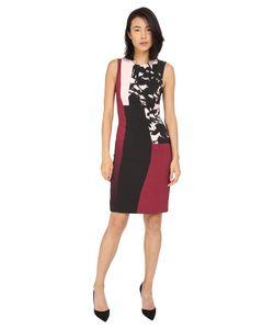 Prabal Gurung   Printed Viscose Long Dress Berry/Shell Floral Shadow Womens