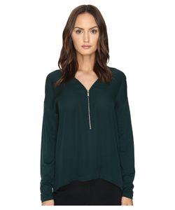 The Kooples | Long Sleeve T-Shirt Front Zip Womens T
