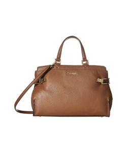 Calvin Klein   Pinnacle Pebble Leather Satchel Luggage Satchel Handbags