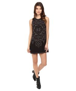 Free People | Mandala Shift Mini Dress Combo Womens Dress